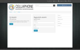 Cellaphone mobiltelefon tartozék